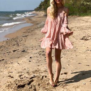 Tularosa Cold Shoulder Polka Dot Hattie Dress